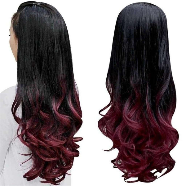 Fashion Sexy Long Wave Curly Synthetic Wig Full Hair Wigs for Party Cosplay Wedding Optional Colors