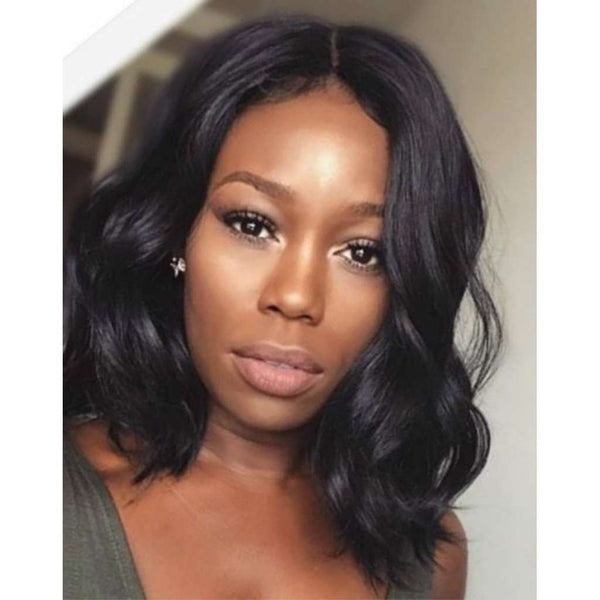 High Density Short Wigs 8A Wavy Glueless Brazilian Body Wave Lace Front Bob Wigs With Baby Hair For Black Women