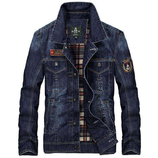 New Arrival Product 2018 Mens denim jacket brand 100% cotton casual mens fashion jean jackets dark blue solid coat male clothing
