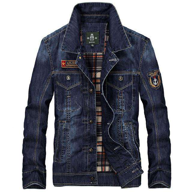 Men's Clothing S~3XL New Fashion Retro Denim Jackets Mens Jeans Coats Spring Plus Size Casual Jacket Man Brand Denim Coat F064