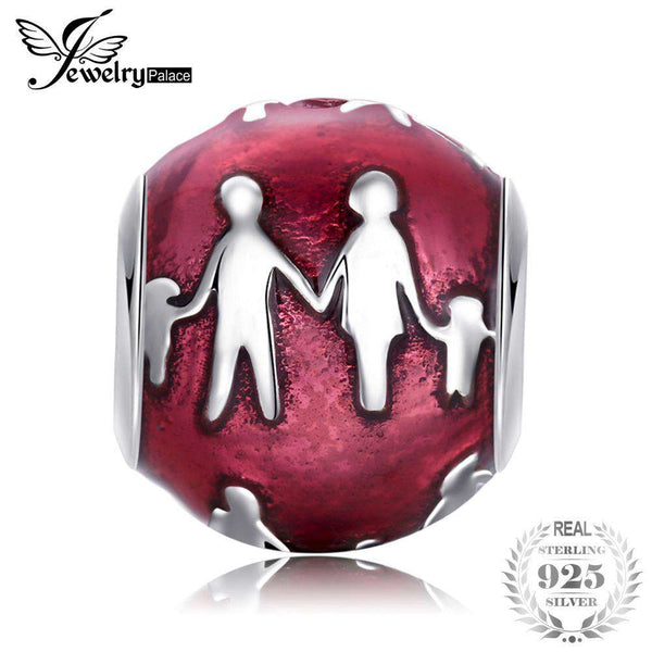 Jewelrypalace 925 Sterling Silver Family Bond Pueple Murano Glass Beads Charms Fit Bracelets Gifts For Women Fashion Jewelry