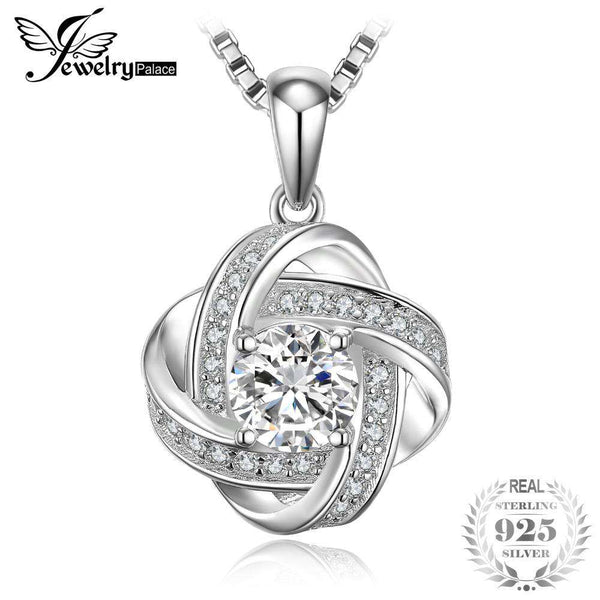 JewelryPalace Windmill Intertwined 1.9ct Cubic Zirconia Pendant 925 Sterling Silver Not Include A Chain