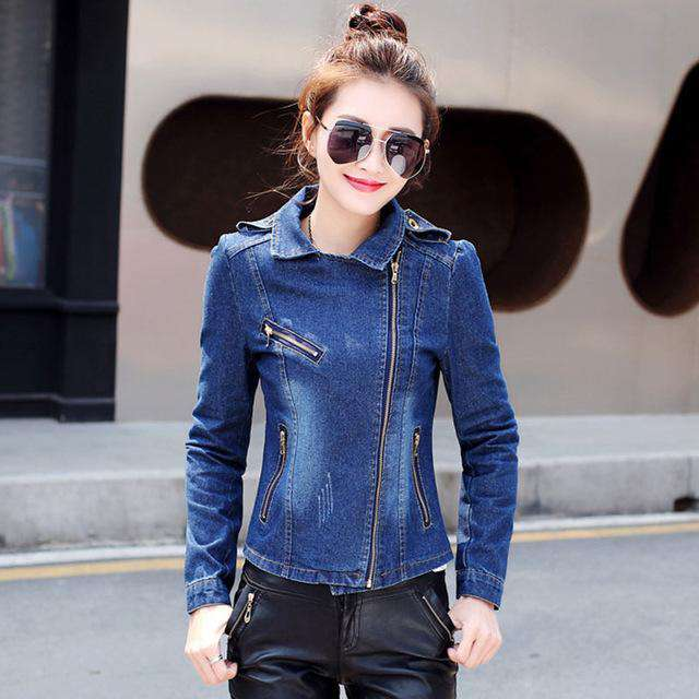 HEE GRAND Jeans Jacket Women Casacos Feminino Slim Denim Jackets Basic Autumn Outwears Elegant Ladies Coat S-2XL Dropship WWJ918