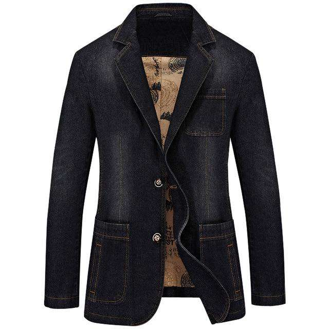 NEW Blazer Leisure cowboy Coats Men's Jeans Suit Autumn Denim Jackets Man Fashion Chaqueta Coat Jacket Tops Outer Male Blazers