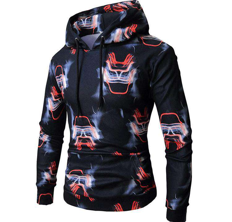 Fashion 3D Pullover Men Sweatshirt Slim Fit Tracksuit Plus Size
