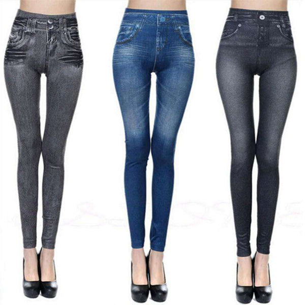 New Fashion Jeans Women Pencil Pants High Waist Jeans Sexy Slim Elastic Skinny Pants Trousers Fit Lady