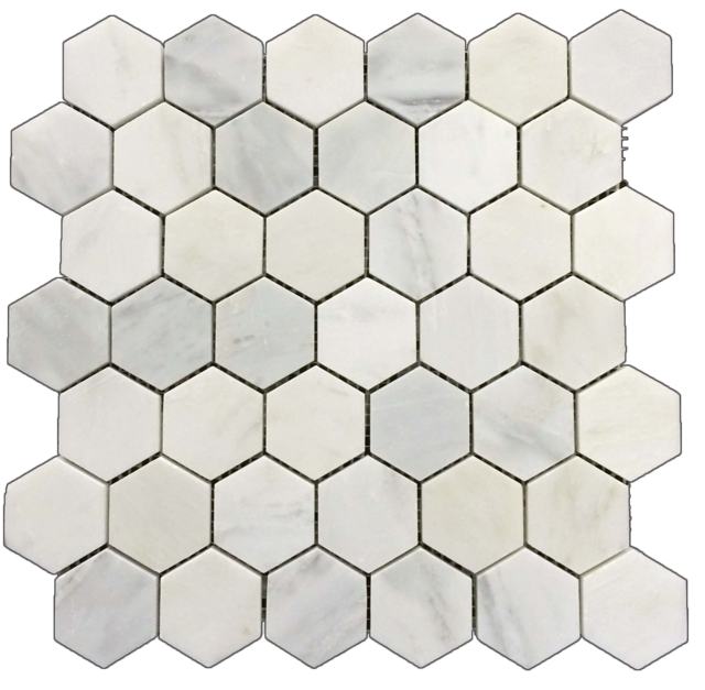 PEARL WHITE HEXAGON