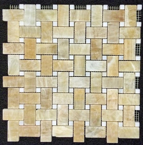 "HONEY ONYX 5/8"" X 5/8"" MOSAIC"