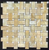 HONEY ONYX WITH WHITE BAR AND HONEY ONYX DOT GRANDE SQUARE MOSAIC