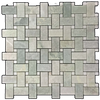 WHITE ABSOLUTE WITH BIANCO CARRARA BAR ARGYLE MOSAIC