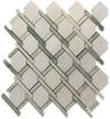 MING GREEN BASKETWEAVE WITH WHITE ABSOLUTE DOT MOSAIC HONED