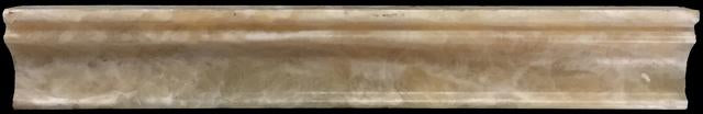 "HONEY ONYX 2"" X 12"" CAPITAL MOLDING POLISHED"