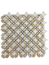 HONEY ONYX BASKETWEAVE WITH WHITE ABSOLUTE DOT MOSAIC POLISHED