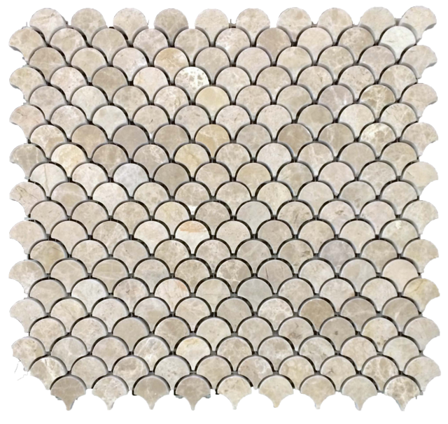 LATTE FAN MOSAIC HONED