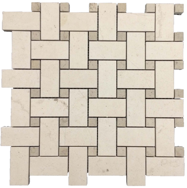 "CHATEAU DE SABLE BASKETWEAVE WITH 5/8"" VILLE SUR MER DOT MOSAIC"