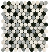 WHITE ABSOLUTE HONEYCOMB WITH BLUE CELESTE MOSAIC