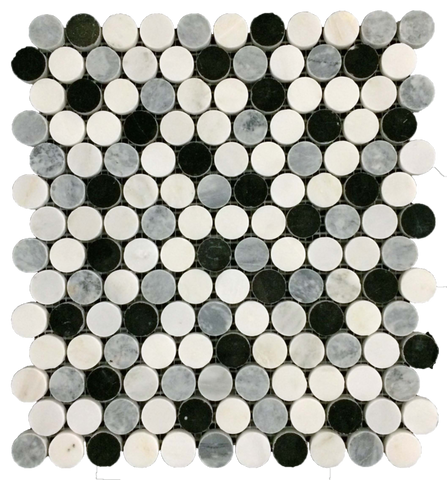 WHITE ABSOLUTE WITH MING GREEN BAR ARGYLE MOSAIC