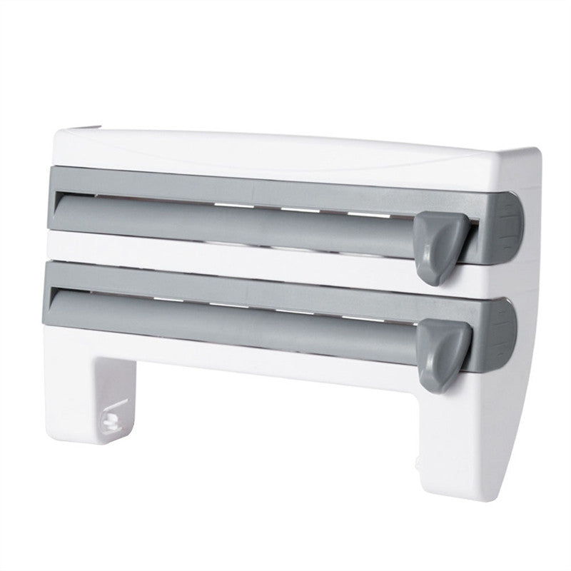 Multifunctional Paper Towel Holder With Storage Rack And Film Dispenser