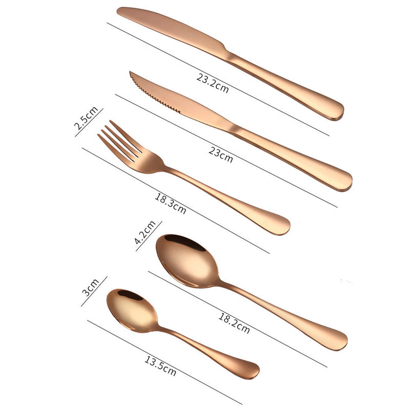 4PCS Set Stainless Steel Dinnerware Flatware