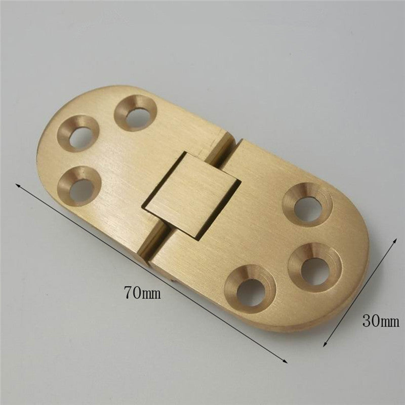 Solid Brass Hinges Connectors with Screws for Flip Top Table Folding Table Cabinet Door