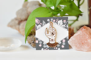Fortune Teller hand pin - The Pickety Witch
