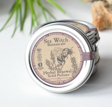 Load image into Gallery viewer, Herbal Renewal Solid Perfume (lavender, rosemary) *STAFF FAVORITE!*