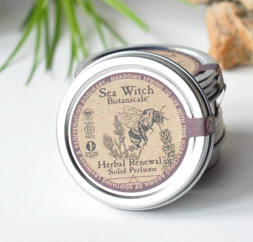 Herbal Renewal Solid Perfume (lavender, rosemary) *STAFF FAVORITE!*