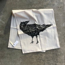 Load image into Gallery viewer, Crow Tea Towel