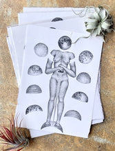 Load image into Gallery viewer, Zoe Hermsen moon figure lithograph print