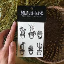 Load image into Gallery viewer, Potted cactus temporary tattoo