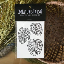 Load image into Gallery viewer, Monstera Leaves temporary tattoo