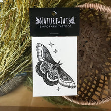 Load image into Gallery viewer, Night moth temporary tattoo