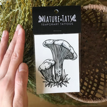Load image into Gallery viewer, Chanterelle mushroom temporary tattoo