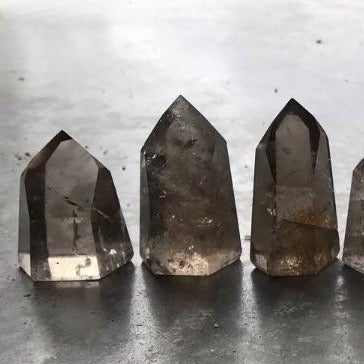 Smoky quartz points (#1)