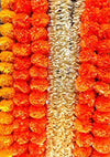 R and D Handicrafts 5 Pack Artificial Orange Marigold Garland Pack 5 ft Long