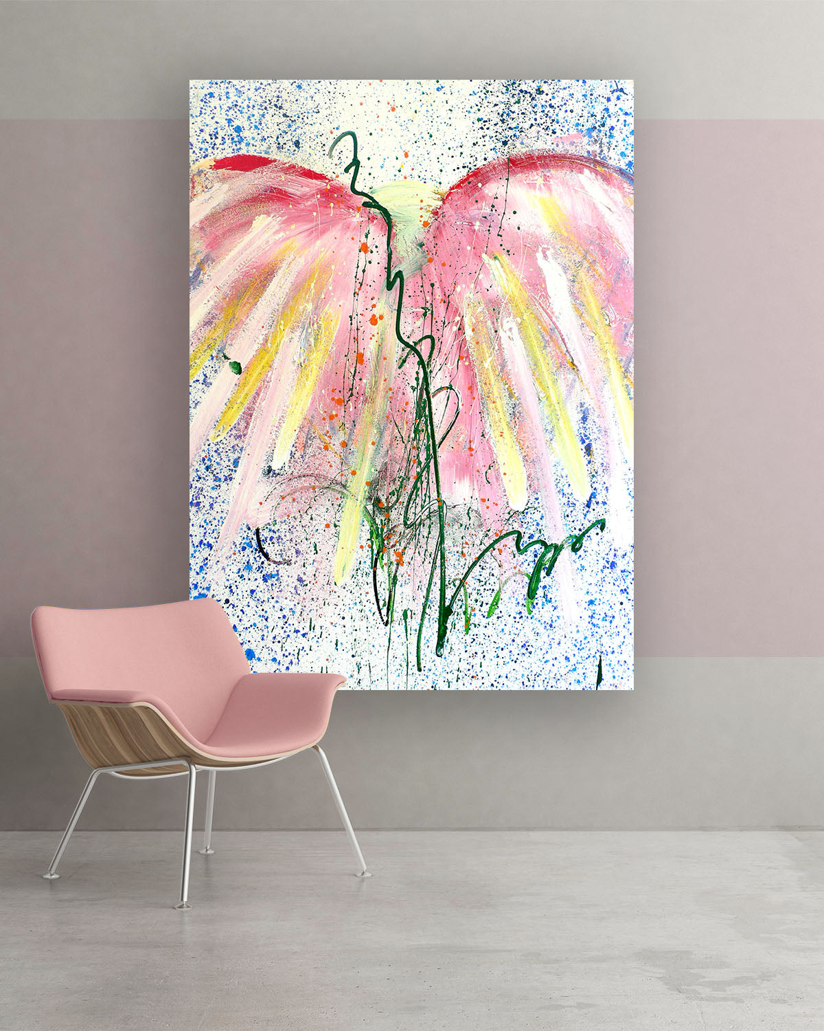 Dapple, Original Abstract Flower Art Painting by Lisa Marie Jones
