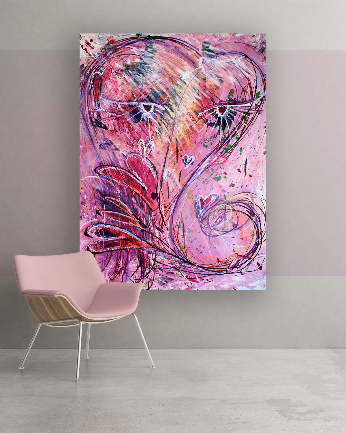 Princess, Original Abstract Flower Art Painting by Lisa Marie Jones