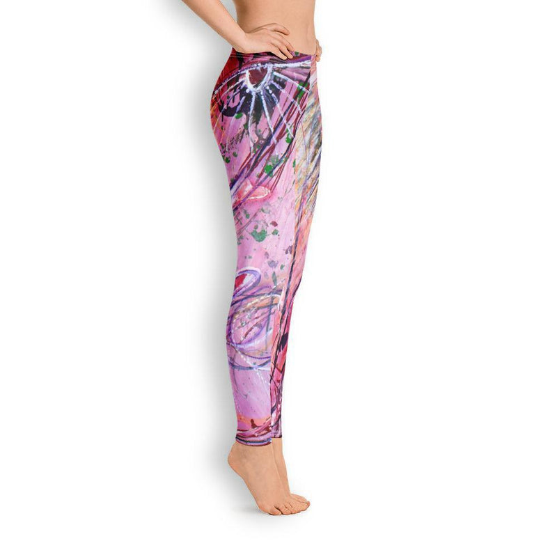 Pink-Princess-Leggings-For-Women