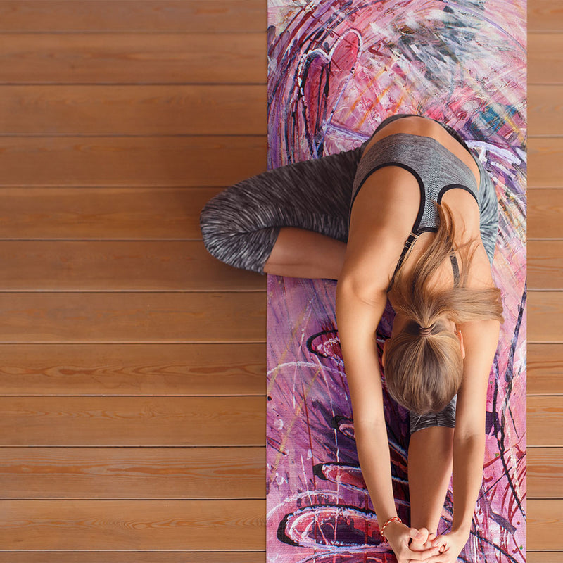 colourful yoga mat