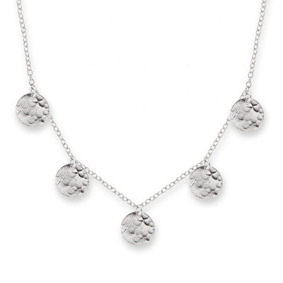 Scattered Jingle Necklace Silver