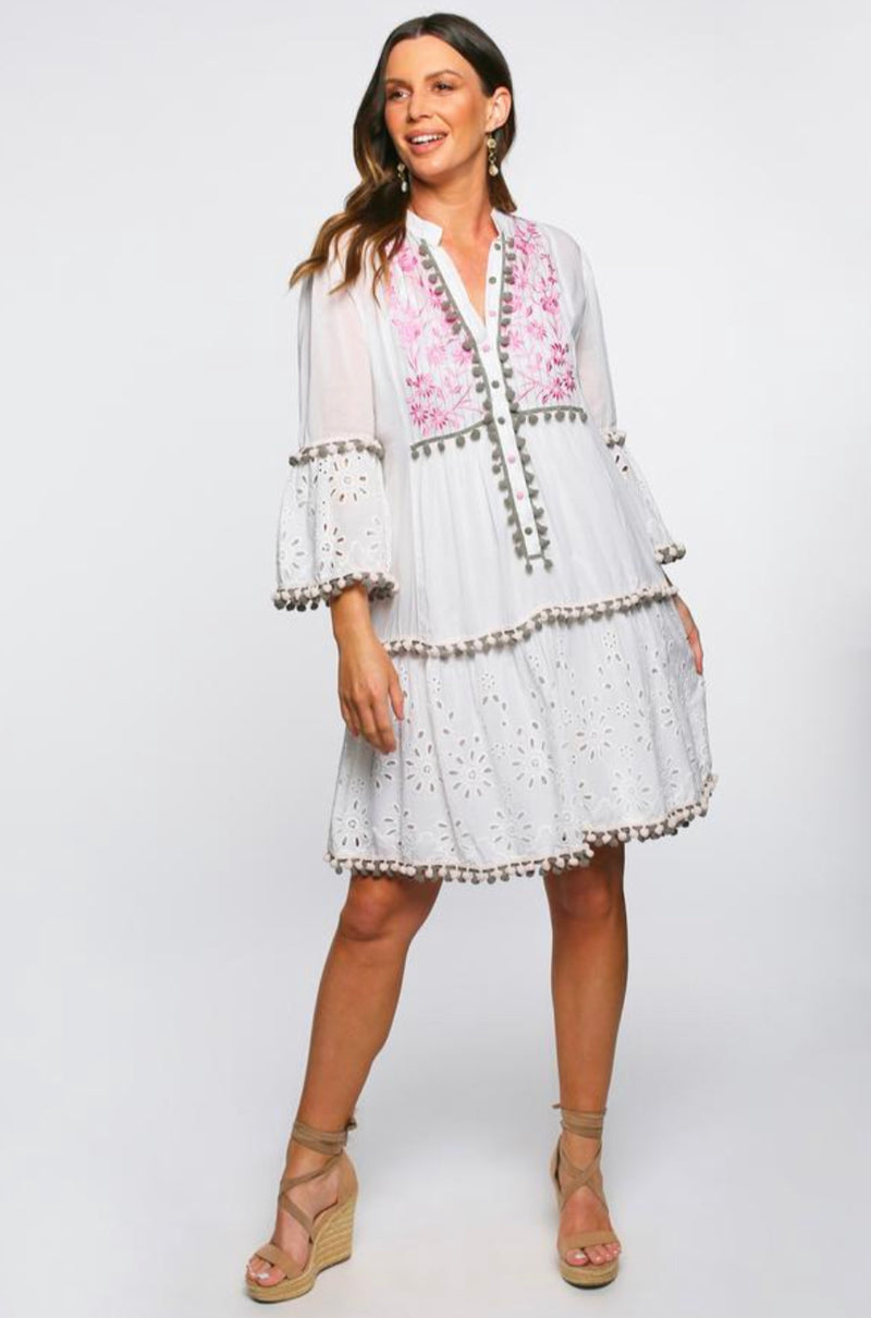 Lynnette Embroidered Dress