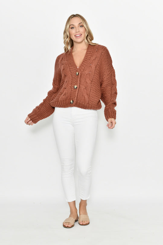 Short Cardigan w/Button
