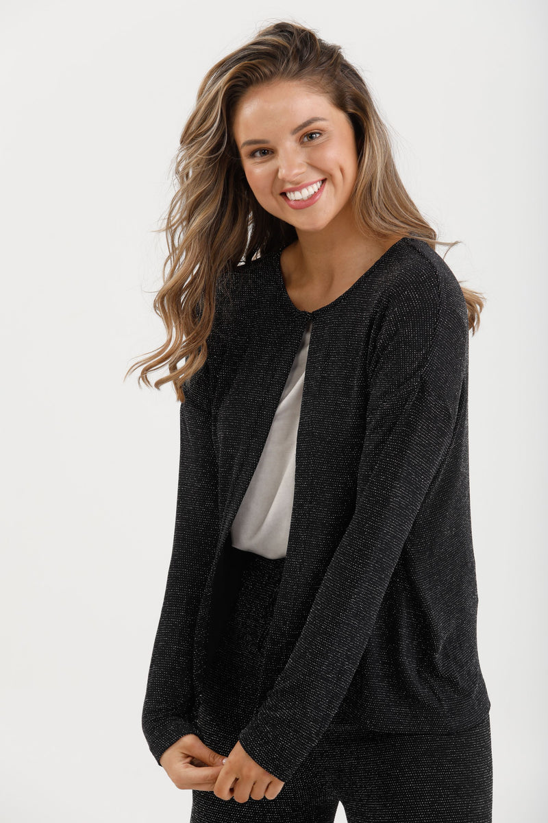 Secret Cardigan Black Sparkle