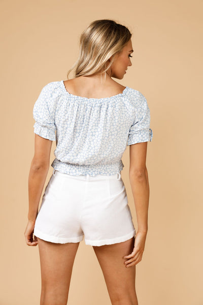 Copacabana Peasant Top