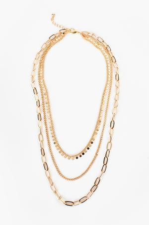 Mult Chain Layered Necklace