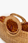 Wicker Small Circle Handle Basket