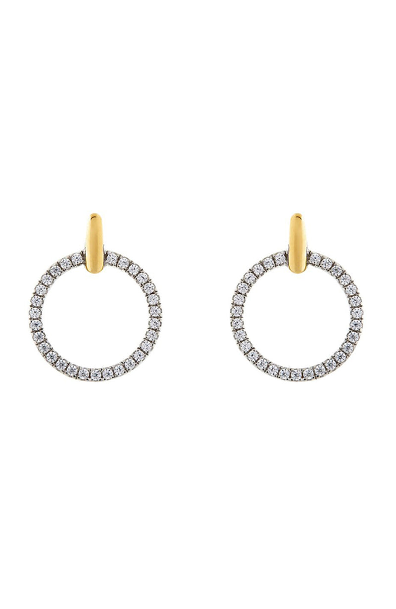 ELENORE GOLD OPEN ROUND STUDS