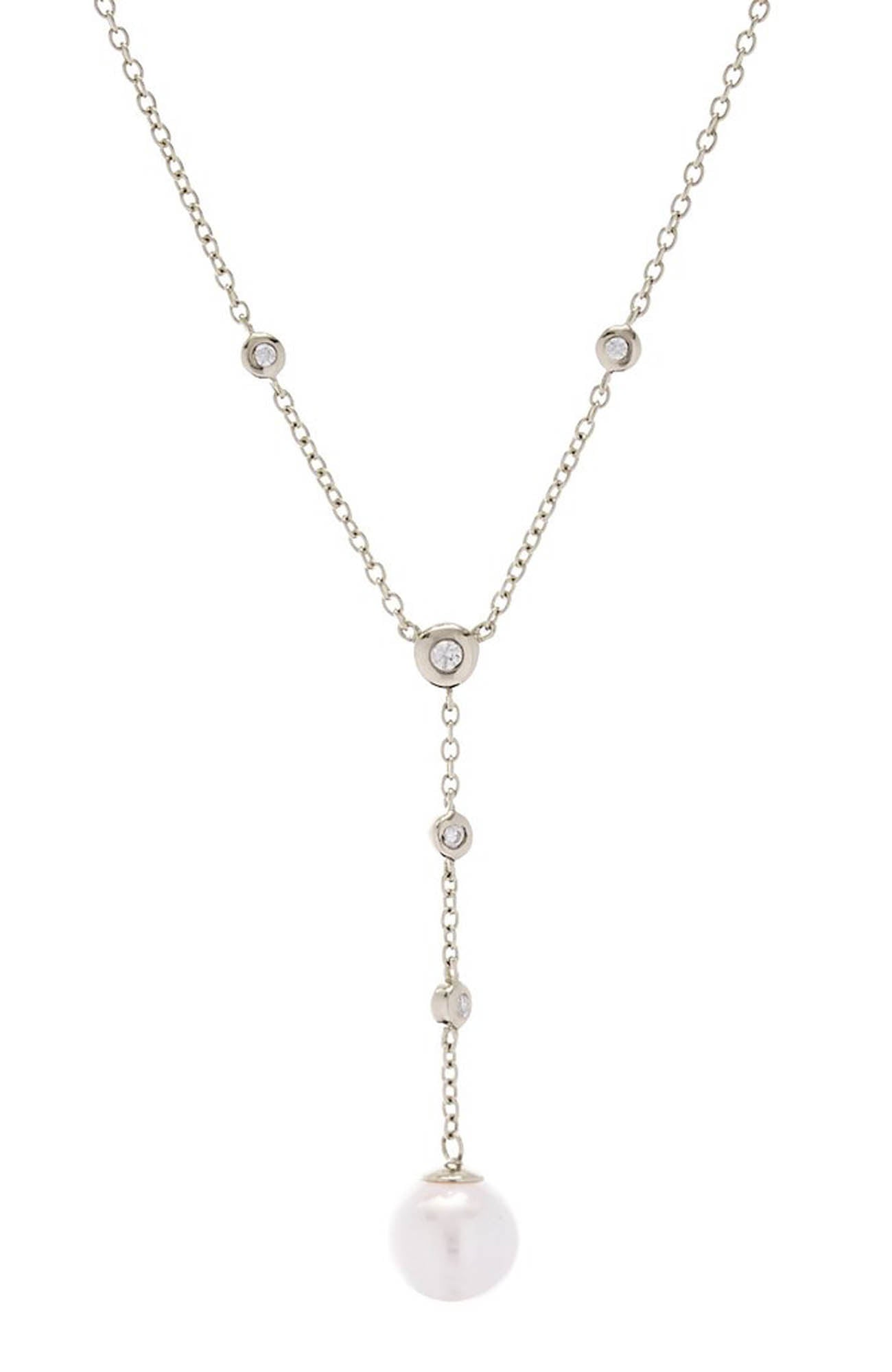 ISSY PEARL DROP SILVER NECKLACE
