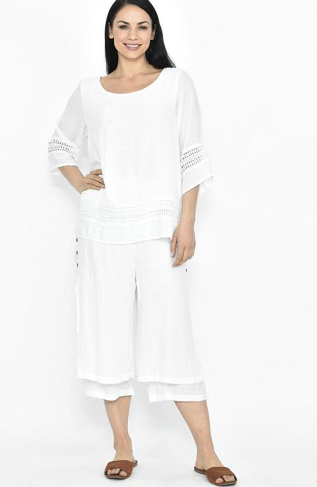 Side Button Beach Pant