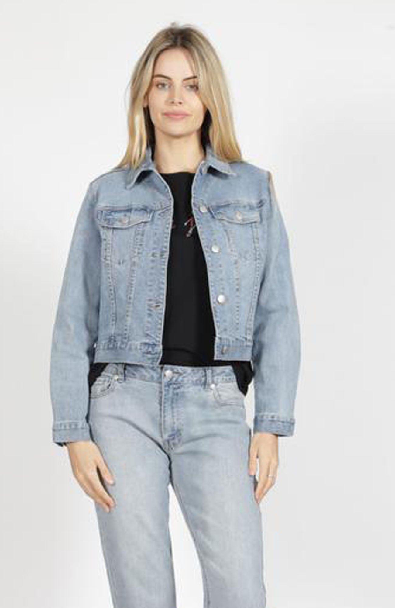 Raine Distressed Denim Jacket